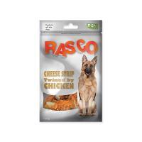 Pochoutka RASCO Dog proužky sýru obalené kuřecím masem 80 g