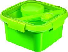 Curver dóza SMART TO GO 1,1l s příborem, mističkou a táckem zelená