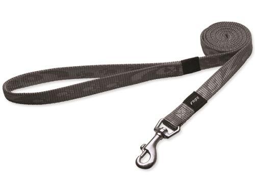 Vodítko pro psa nylonové - Rogz Alpinist - stříbrné - 1,6 x 140 cm