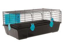 Klec SMALL ANIMAL Matěj černá s modrou výbavou
