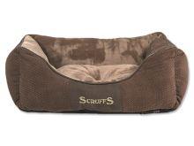 Scruffs Chester Box Bed pelíšek pro psy čokoládový - velikost S, 50x40 cm