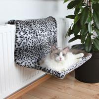 Trixie závěsné lůžko na topení plyšové motiv sněžný leopard 58 x 30 x 38 cm