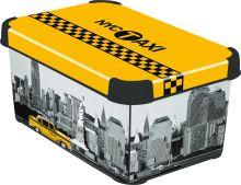 Curver úložný box, vzor New York, velikost S