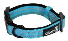 Alcott reflexní obojek pro psy, modrý, velikost S