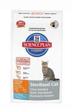 Hill's Feline Dry Adult Young Sterilized Tuna - tuňák pro kastrované kočky