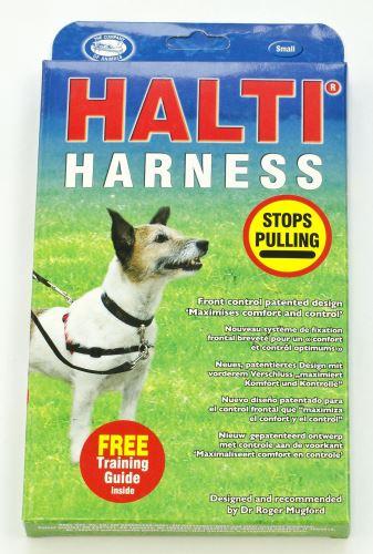 Halti Harness Nylonový postroj proti tahání pro psy červeno-černý