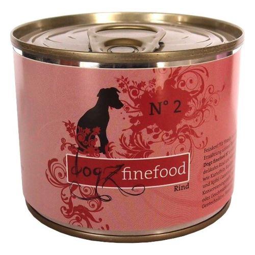 Dogz Finefood No.2 Konzerva - hovězí pro psy
