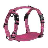 Alcott reflexní postroj pro psy, růžový, velikost L