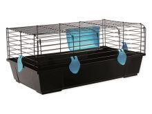 Klec SMALL ANIMALS Ludvík černá s modrou výbavou