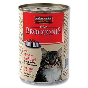 Animonda Brocconis Konzerva - hovězí & drůbež pro dospělé kočky 400 g