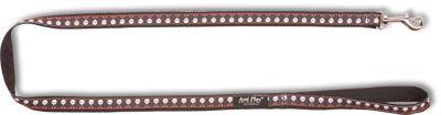 Vodítko pro psa nylonové - černé se vzorem lebka - 2,5 x 150 cm
