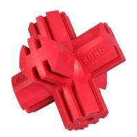 Kong Kříž gumová plnitelná interaktivní hračka pro psy červená