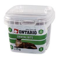 Ontario Snack Dental Bits pochoutka pro kočky - péče o zuby 75 g