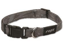 Obojek pro psa nylonový - Rogz Alpinist - stříbrný - 1,6 x 26 - 40 cm