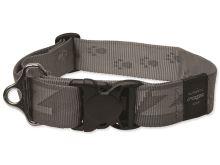 Obojek pro psa - nylonový - Rogz Alpinist - stříbrný - 4 x 50 - 80 cm