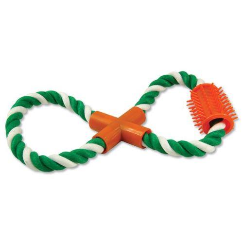 Přetahovadlo DOG FANTASY osmička zeleno-bílé 25 cm