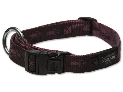 Obojek pro psa nylonový - Rogz Alpinist - fialový - 2 x 34 - 56 cm