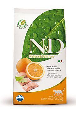 N&D Grain Free Cat Adult Fish & Orange 300 g