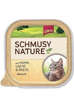 Schmusy Nature Menu vanička - kuře & losos 100 g