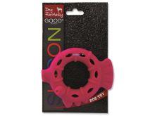 Dog Fantasy silikonový kroužek červený 10 cm
