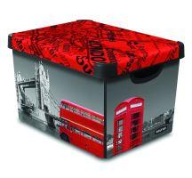 Curver úložný box, vzor Londýn, velikost L