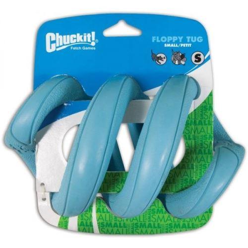 Chuckit! Floppy Tug gumové přetahovadlo ve tvaru pružiny modré