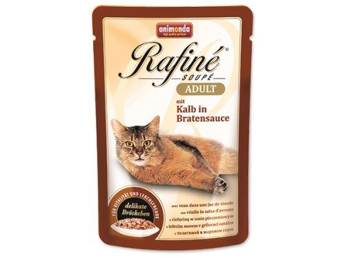 Animonda Rafine Soupe Kapsička - telecí v grilovací  omáčce pro dospělé kočky 100 g