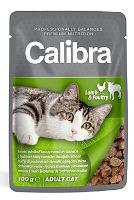 Kapsička pro kočky s jehněčím a drůbežím masem v omáčce Calibra Cat100 g