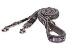Vodítko pro psa přepínací - nylonové - Rogz Fancy Dress Silver Gecko - 2 x 160 cm
