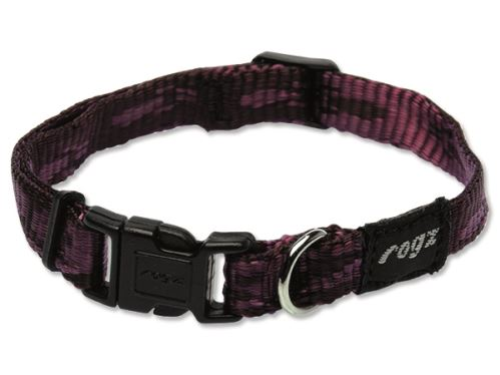 Obojek pro psa nylonový - Rogz Alpinist - fialový - 1,1 x 20 - 32 cm