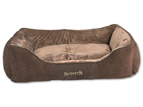 Scruffs Chester Box Bed pelíšek pro psy čokoládový - velikost XL, 90x70 cm