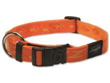 Obojek pro psa nylonový - Rogz Alpinist - oranžový - 2,5 x 43-70 cm