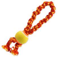 Přetahovadlo DOG FANTASY barevné + tenisák 2 knoty 32 cm