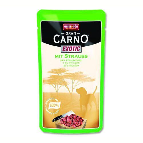Animonda Gran Carno Exotic Kapsička - pštrosí pro psy 125 g