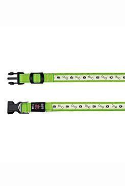 Obojek pro psa svítící - Trixie Usb - zelený - 2,5 x 40 - 50 cm