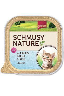 Schmusy Nature Menu Junior vanička - losos & jehně pro koťata 100 g