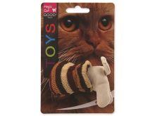 Hračka MAGIC CAT kočka v pytli s catnipem mix 9 cm