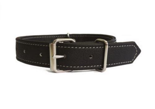 Obojek pro psa Argi z eko kůže - černý - 2,5 x 54 cm