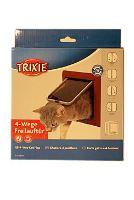 Dvířka kočka plast 4P Hnědá Freecat DeLuxe Trixie 1ks