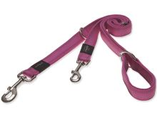 Vodítko pro psa přepínací nylonové reflexní - Rogz Utility - růžové - 2,5 x 160 cm