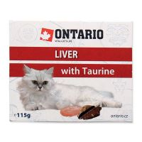 Vanička ONTARIO Cat Liver with Taurine 115 g