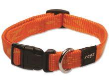 Obojek pro psa nylonový - Rogz Alpinist - oranžový - 1,6 x 26 - 40 cm