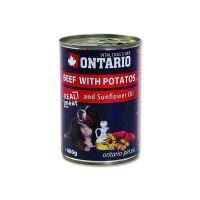 Ontario Beef, Potatoes, Sunflower Oil konzerva - hovězí & brambory & slunečnicový olej pro dospělé psy