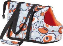 Taška pro psa Argi z polyesteru - oranžová se vzorem - 42 x 26 x 30 cm