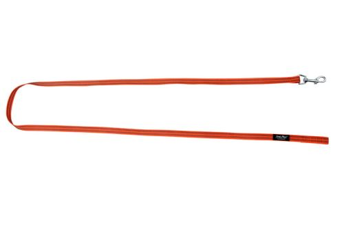 Vodítko pro psa výcvikové s vetkanou gumovou nítí - bez rukojeti - oranžové - 2 x 200 cm