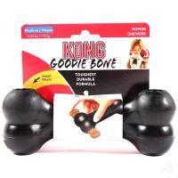 Kong Goodie Bone gumová plnitelná interaktivní kost pro psy černá - velikost M
