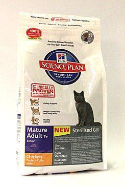 Hill's Feline Dry Adult Mature 7+ Sterilized - pro kastrované kočky od 7 let