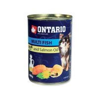 Konzerva ONTARIO Dog Mini Multi Fish and Salmon Oil 400 g