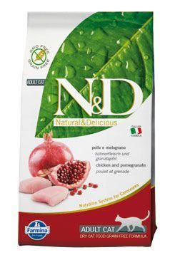 N&D Grain Free Cat Adult kuře + granátové jablko 300 g