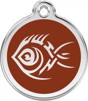 Red Dingo Známka hnědá vzor Tribal ryba